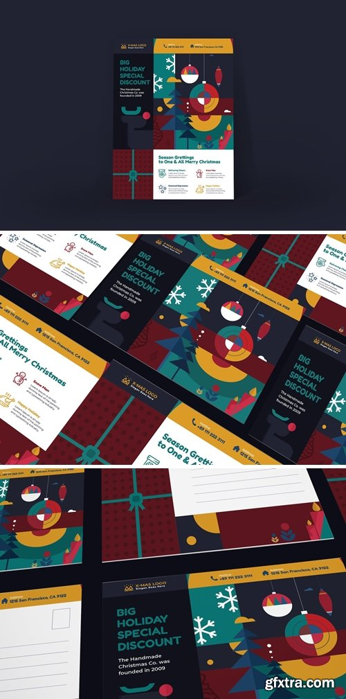 Merry Christmas Poster PSD Template