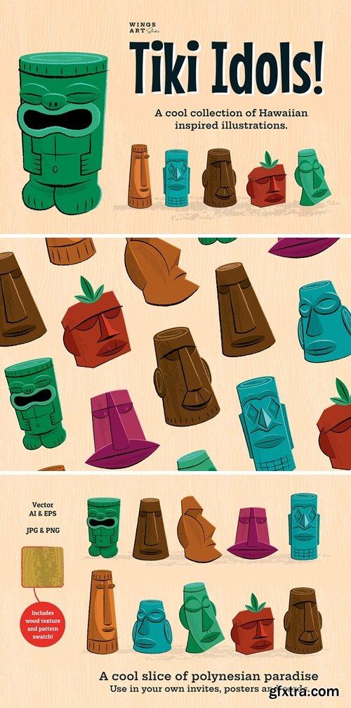 CM - Tiki Idol Vector Illustrations 59097