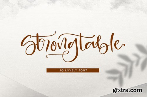 Strong Table Font