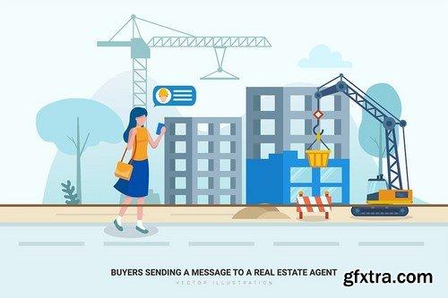 Construction & Real Estate Vector Illustration_v3
