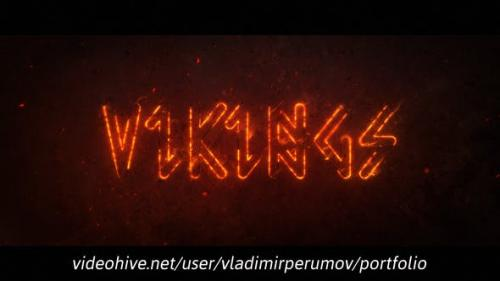 Videohive - Fire Outline Logo