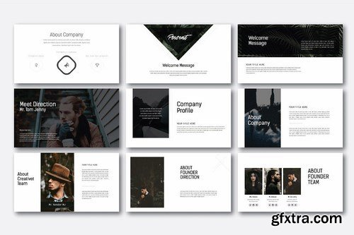 Hipstyle Powerpoint and Keynote Templates