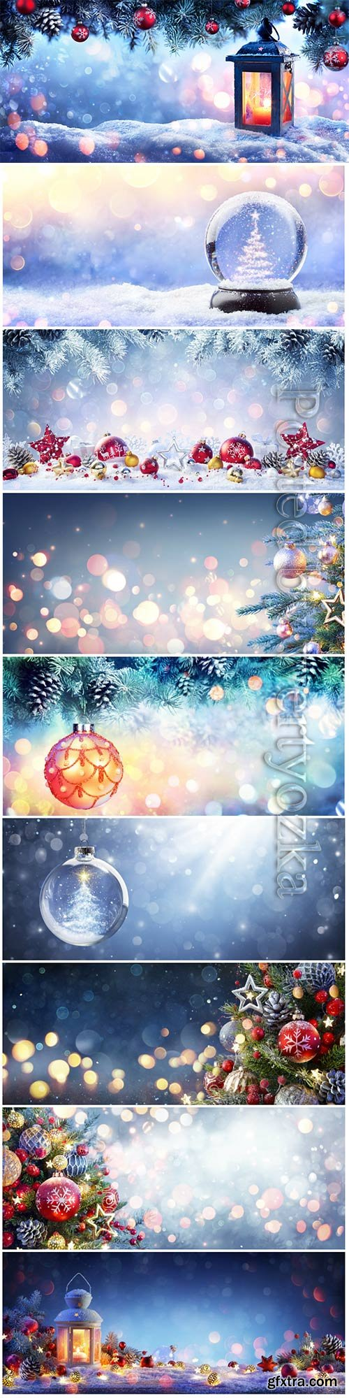Wonderful New Year and Christmas Backgrounds