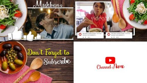 Videohive - Mukbang Food Youtube Intro