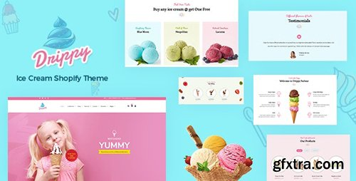 ThemeForest - Drippy v1.0 - Shopify Ice Cream Store - 24604040