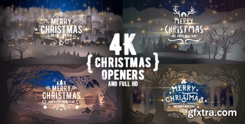 VideoHive 4K Christmas Openers/ Winter Tales 3D Snowflake/ Merry Christmas Happy New Year Snow Light Intro 13717183