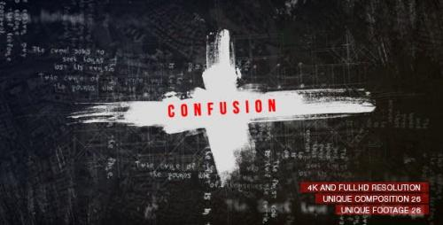 Videohive - Confusion Titles/ Movie and Film Text Intro/ True Detective/ Trailer Crime Story/ VHS/ Police & Spy