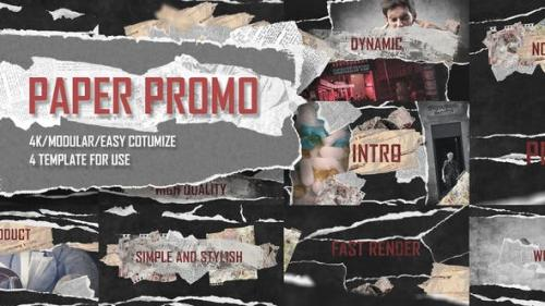 Videohive - Paper Promo/ Stomp Typography/ Torn Newspaper Promotion/ Social Presentation Intro/ Drum Beat Rhythm