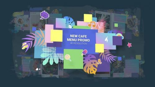 Videohive - New Cafe Menu Promo/ Restaurant Video Wall/ Instafood/ Food Blog/ Kids Party/ Modern Display/ Bar
