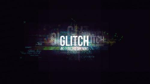 Videohive - Glitch Logo/ Digital Hi-Technology Intro/ Distortion Transitions/ Hud Opener/ Youtube Blogger/ Text