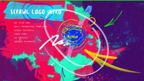 Videohive - Scrawl Logo Intro 4K/ Instagram Stories Opening/ Bits and Pieces/ Brush Oil Paint/ Marker Transition