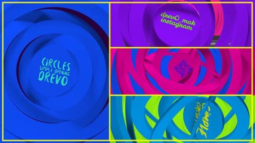 Videohive - Circles Simple Opening/ Transitions/Minimal Logo/ Youtube Clean Intro/ Cartoon Kid TV/ Corp/ IGTV