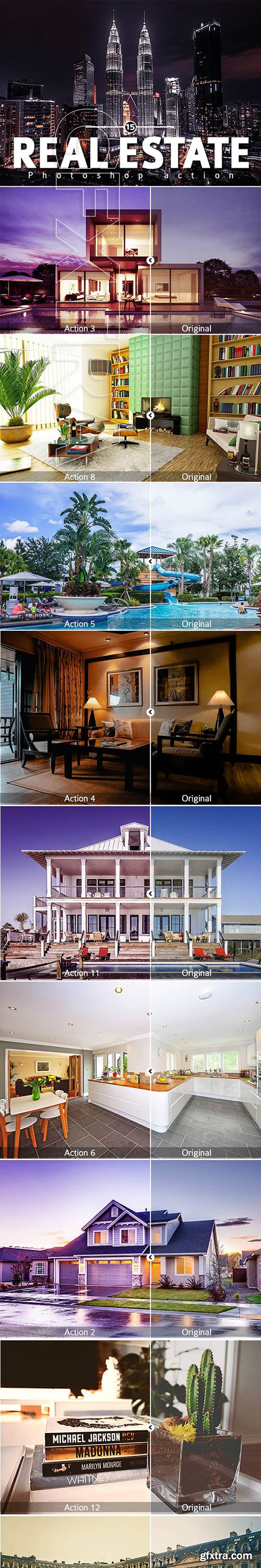 GraphicRiver - 15 Real Estate Photoshop action 24859571
