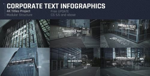 Videohive - Corporate Text Infographics/ Economic Titles Intro/ Business and Political Summit/ HUD UI Meeting