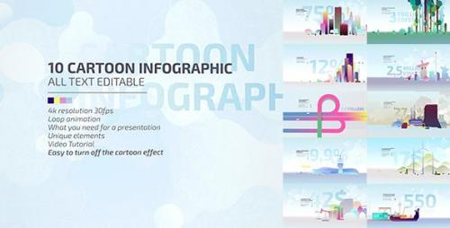 Videohive - 10 Cartoon Infographic / Economic Explainer Video Toolkit 4K / Business Presentation