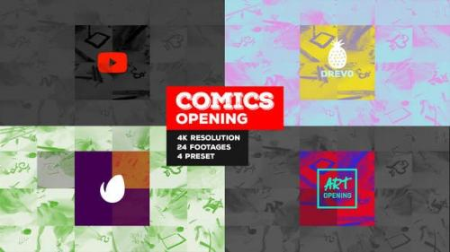 Videohive - Fast Comics Opening/ Art Intro/ Kids Cartoon Tv Broadcast Intro/ Teens Youtube Channel/ Family Tales