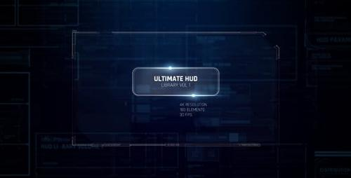 Videohive - Ultimate HUD Library vol. 1/ Dron Ui Future Space Package/ Cyber Space Screens/ Circles/ Line/ Grid