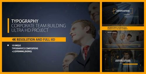 Videohive - Typography Intro/ Corp Team Building/ Business/ Political Meeting/ Economic/ Summit/ Event Promo/ TV