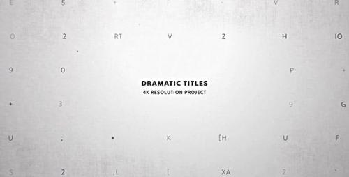 Videohive - Dramatic Titles/ Movie and Film Text Intro/ True Detective/ Trailer Crime Story/ VHS/ Police & Spy