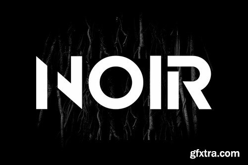 NOIR - Unique & Modern Display Logo Typeface