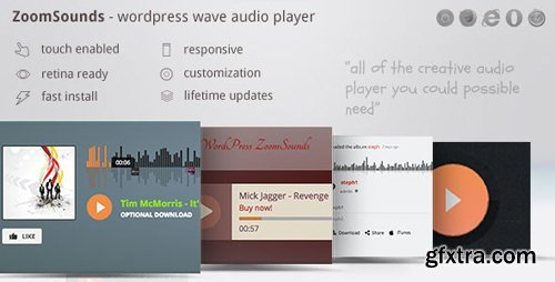 CodeCanyon - ZoomSounds v5.62 - WordPress Wave Audio Player with Playlist - 6181433