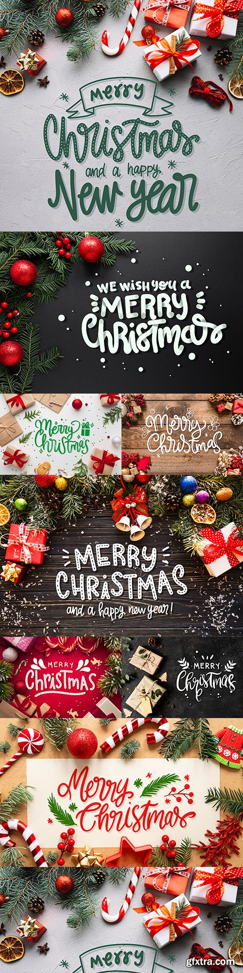 Merry Christmas and New Year background decorative 31