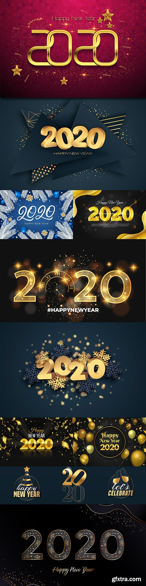 New Year and Christmas 2020 decorative inscriptions 15