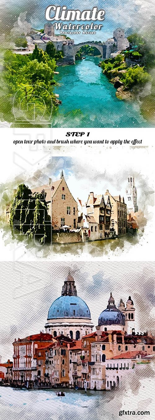 GraphicRiver - Climate Watercolor Photoshop Action 25114818