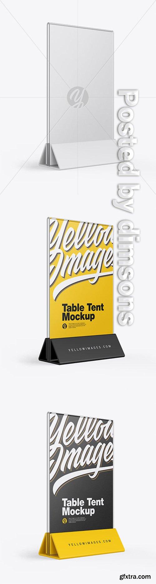 Glass Table Tent Mockup 49205