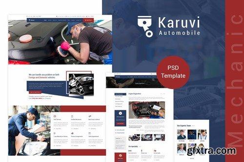 Karuvi Car Mechanic PSD Template