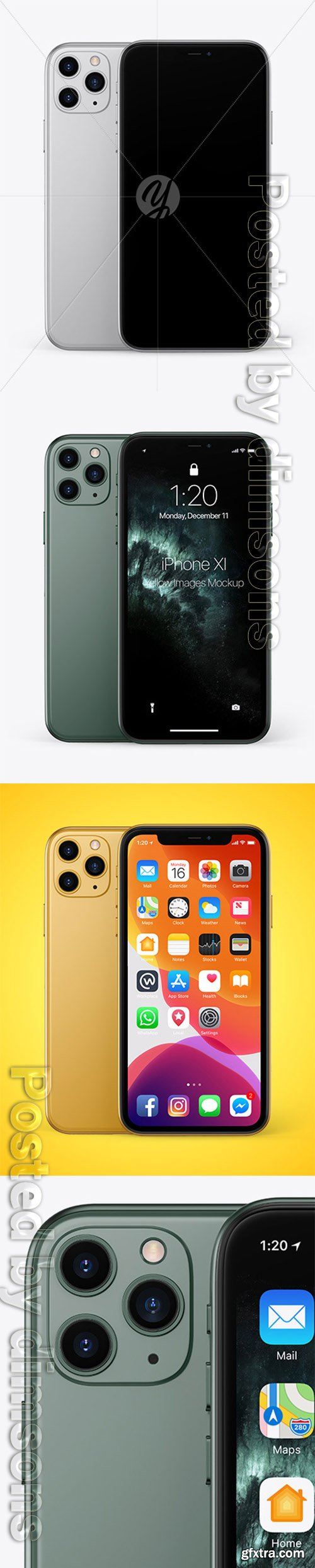 Two Apple iPhones 11 Pro Mockup 49621