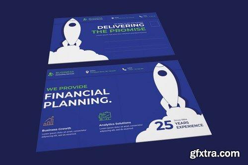 Business, Corporate Postcard PSD Template
