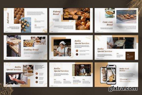 Rotiku - Bakery Powerpoint Google Slides and Keynote Templates