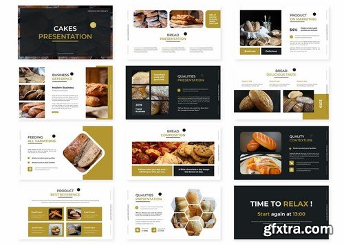 Cakes - Powerpoint Google Slides and Keynote Templates