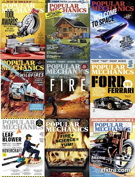Popular Mechanics USA - 2019 Full Year Issues Collection