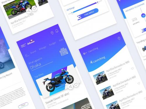 Bikers App UI Kit - bikers-app-kit
