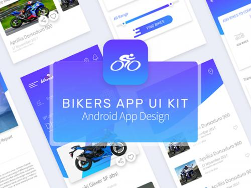 Bikers App UI Kit V2 - bikers-app-ui-kit-v2
