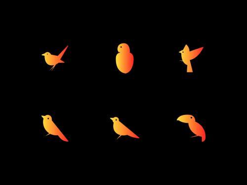 Birds icons set - birds-icons-set