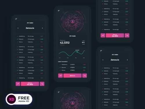 Bitcoin App - bitcoin-app-ui-freebie