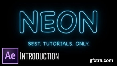 Neon Text Animation - After Effects
