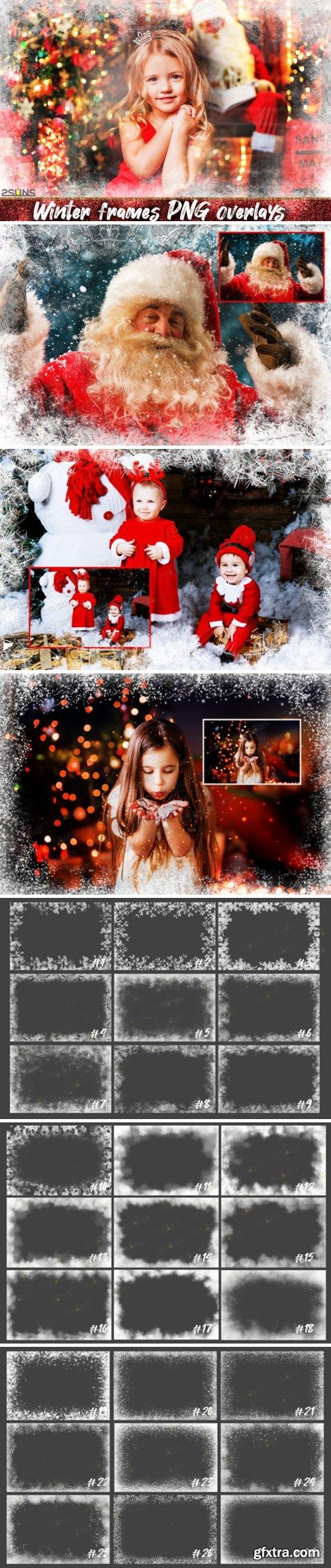 Photoshop Overlays Christmas Frames 2250943