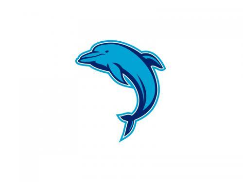Blue Dolphin Jumping Retro - blue-dolphin-jumping-retro
