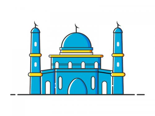 Blue Mosque Illustration - blue-mosque-illustration