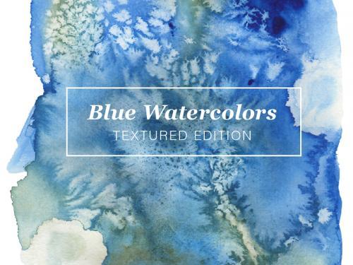 Blue Textured Watercolors - blue-textured-watercolors