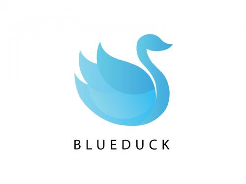 Blueduck logo design - blueduck-logo-design