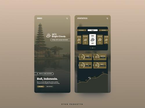 BMKG Weather Simple App Concept - bmkg-weather-simple-app-concept