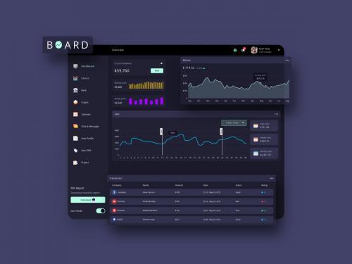 BOARD Finance Dashboard Ui Dark - FP - board-finance-dashboard-ui-dark-p