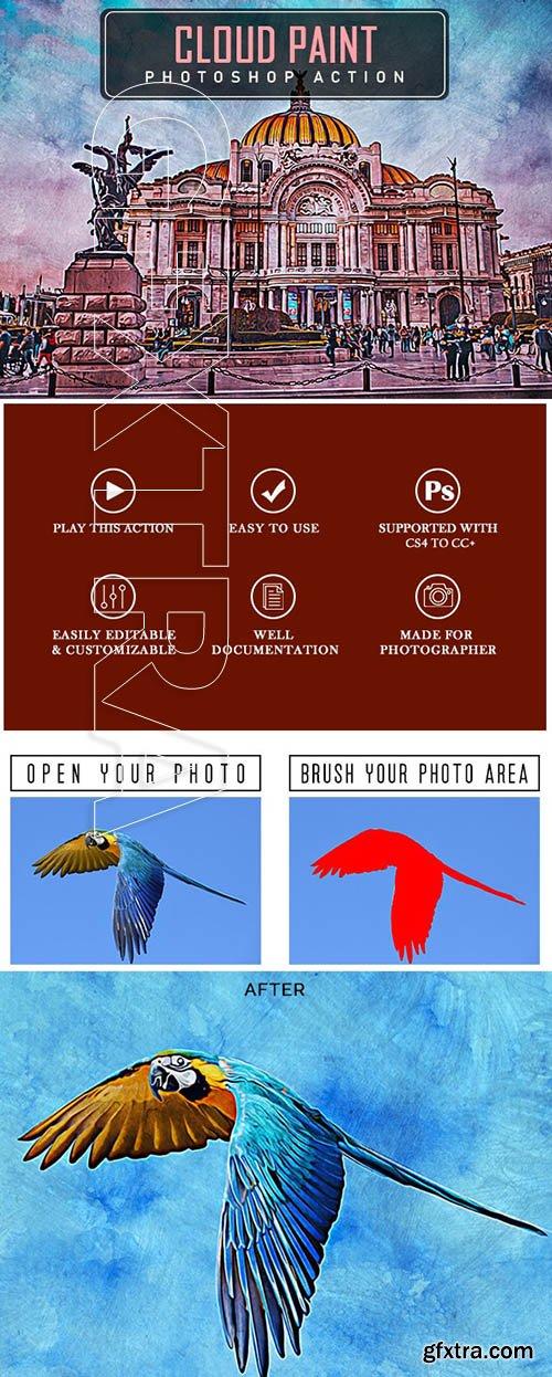 GraphicRiver - Cloud Paint Photoshop Action 25023496