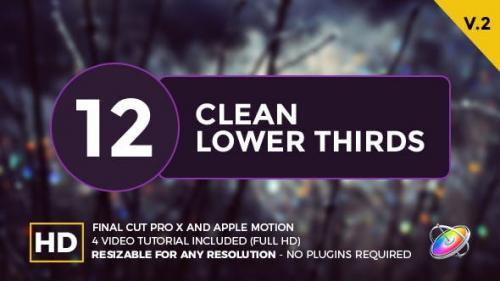 Videohive - Clean Lower Thirds For Final Cut Pro X