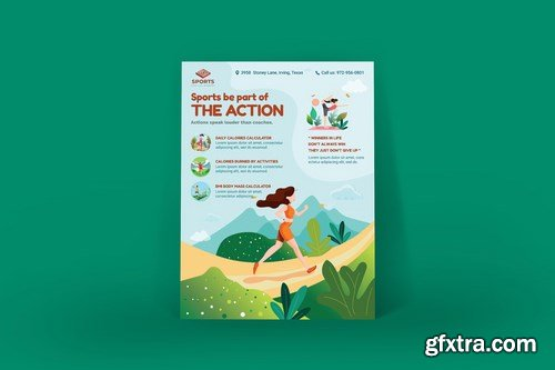 Sport Activities Poster Illustration Template